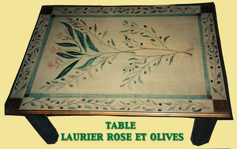 Laurier rose et olives